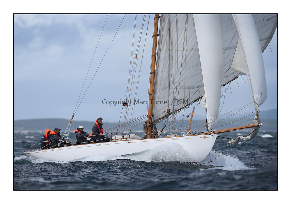 Day five of the Fife Regatta, Race from Portavadie on Loch Fyne to Largs. <br /> <br /> Viola, Yvon Rautureau, FRA, Gaff Cutter, Wm Fife 3rd, 1908<br /> <br /> * The William Fife designed Yachts return to the birthplace of these historic yachts, the Scotland&rsquo;s pre-eminent yacht designer and builder for the 4th Fife Regatta on the Clyde 28th June&ndash;5th July 2013<br /> <br /> More information is available on the website: www.fiferegatta.com