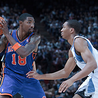 06 October 2010: New York Knicks guard Roger Mason #18 is seen during the Minnesota Timberwolves 106-100 victory over the New York Knicks, during 2010 NBA Europe Live, at the POPB Arena in Paris, France.