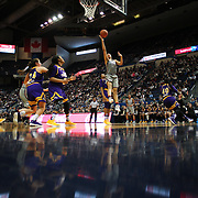 HARTFORD, CONNECTICUT- JANUARY 4: Gabby Williams #15 of the Connecticut Huskies scores two points during the UConn Huskies Vs East Carolina Pirates, NCAA Women's Basketball game on January 4th, 2017 at the XL Center, Hartford, Connecticut. (Photo by Tim Clayton/Corbis via Getty Images)