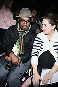 l to r: Marc Baptiste and Guest Front Row at This Day/Arise Magazine: African Fashion Collective 2009 held at The Promenade at the 2009 Fall Fashion Week at Bryant Park, NYC