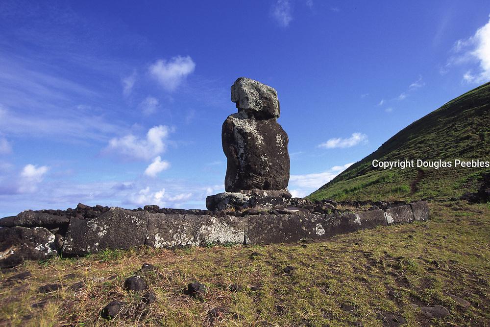 Ahu Ature Huke, restored 1956 by Thor Heyerdahl,Easter Island (Rapa Nui), Chile<br />