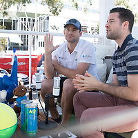 Andy Roddick in the Blue Room on day ten of the 2017 Australian Open at Melbourne Park on January 25, 2017 in Melbourne, Australia.<br /> (Ben Solomon/Tennis Australia)