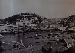 Torquay Harbour photographed in 1873 in a book of old photographs to be auctioned at Bonhams. Bonhams, Knightsbridge, London, November 23 2018.