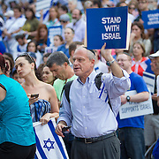Rally in Solidarity with Israel at City Hall Plaza on August 7, 2014 in Boston, Massachusetts. (Photo by Elan Kawesch)