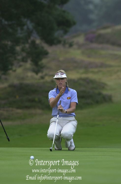 Friday 3rd August 2001..Sweden's Carin Kock, approaching the 11th Green.2001 Weetabix Women's Open, Sunningdale,..[Mandatory Credit Peter Spurrier/ Intersport Images]