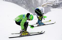 Katarina Lavtar of Slovenia prior to the 1st Run of 50th Golden Fox Audi Alpine FIS Ski World Cup Ladies Slalom, on February 2, 2014 in Podkoren, Kranjska Gora, Slovenia. (Photo By Matic Klansek Velej / Sportida.com)