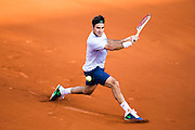 Paris, France. Roland Garros. June 2nd 2013.<br /> Swiss player Roger FEDERER against Gilles SIMON