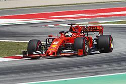 May 11, 2019 - Barcelona, Catalonia, Spain - Ferrari driver Sebastian Vettel (5) of Germany during F1 Grand Prix qualifying celebrated at Circuit of Barcelona 11th May 2019 in Barcelona, Spain. (Credit Image: © Mikel Trigueros/NurPhoto via ZUMA Press)