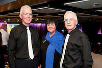 HP Choir members Peter Cunnane, Jeanette Hynes and Patsy Cahalan at the Radisson Blu Hotel for Galway 1st ever Choir Factor in aid of Kilcuan Retreat and Healing Centre in Clarinbridge, Co. Galway . The event organised by the Corrib Lions Club was won by the Marine Institute Choir directed by Carmel Dooley. Picture:Andrew Downes