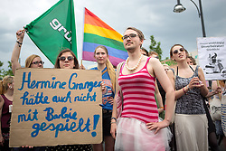 59655326.Protest against the Opening of the controversial touring exhibition of Barbie in Berlin. Several Hundred Activists  demonstrate against the Role-image by Barbie by Women on Beauty Slenderness and Consumption, Berlin, Germany, May 16, 2013.   Photo by: imago / i-Images. UK ONLY
