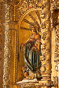 Image of Virgin and Child at Golden Altar in San Jose church. Old Quarters, San Felipe, Panama City, Panama, Central America.