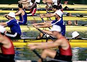 Barcelona Olympics 1992 - Lake Banyoles, SPAIN,   M2+ at the start.  Photo: Peter Spurrier.       {Mandatory Credit: © Peter Spurrier/Intersport Images]..       {Mandatory Credit: © Peter Spurrier/Intersport Images].