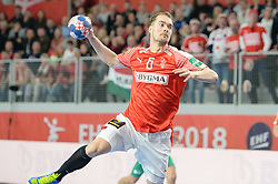 MORTENSEN Casper U. of Denmark during handball match between National teams of Denmark and Hungary on Day 2 in Preliminary Round of Men's EHF EURO 2018, on Januar 13, 2018 in Skolsko Sportska Dvorana, Varazdin, Croatia. Photo by Mario Horvat / Sportida