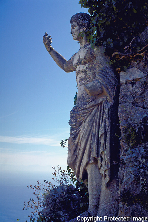 Roman Staute on the top of the Island of Capri, Monte Solaro, in the small town of Anacapri