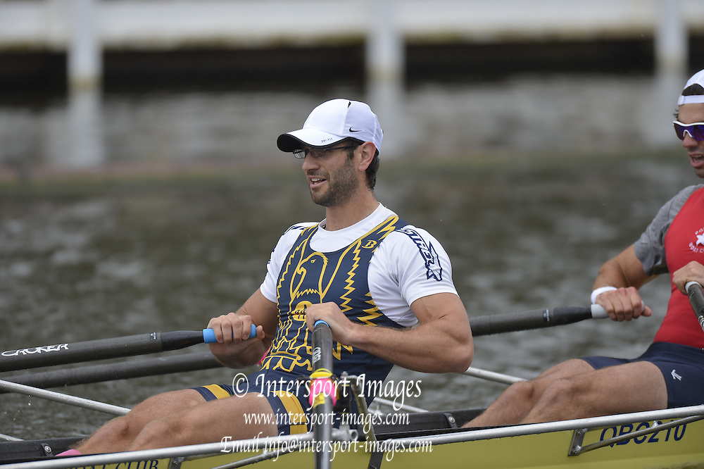 Henley, GREAT BRITAIN.Double Sculls Challenge Cup. W. S. COWLES and S.H. WHELPLEY. USA, in their Friday heat. 2012 Henley Royal Regatta. ..Friday  11:54:18  29/06/2012. [Mandatory Credit, Peter Spurrier/Intersport-images]...Rowing Courses, Henley Reach, Henley, ENGLAND . HRR.