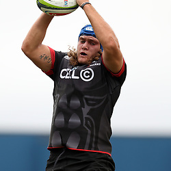 Wian Vosloo of the Cell C Sharks during The Cell C Sharks Pre Season warm up game 1,The Cell C Sharks B and the Toyota Cheetahs B,at King Zwelithini Stadium, Umlazi, Durban, South Africa. Friday, 3rd February 2017 (Photo by Steve Haag)