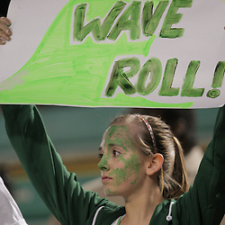 07 November 2008: A fan holds up a sign The Ponchatoula Green Wave defeated District 7-5A rival the Hammond Tornados 34-13 at Strawberry Stadium in Hammond, LA . The Green Wave with the win clinched a spot in the 2008 playoffs.