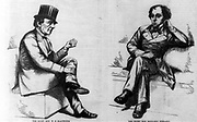 British Statesmen, 1868: The great rivals William Ewart Gladstone (1809-1898), Liberal, four times Prime Minister, left, and Benjamin Disraeli (1804-1881), Conservative, twice Prime Minister.