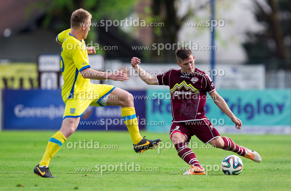 Klemen Sturm #3 of Triglav during football match between ND Triglav Kranj and NK Domzale in 29th Round of Prva liga Telekom Slovenije 2013/14, on April 23, 2014 in Sports park Kranj, Slovenia. Photo by Vid Ponikvar / Sportida