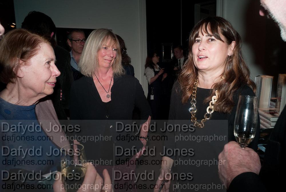 DRUSILLA BEYFUS; ALEXANDRA SHULMAN, Can we Still Be Friends- by Alexandra Shulman.- Book launch. Sotheby's. London. 28 March 2012.