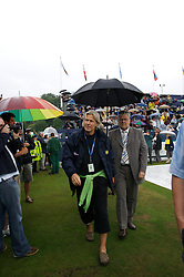 Liverpool, England - Wednesday, June 13, 2007: Bjorn Borg signs autographs on a rainy and wet centre court  at Calderstones during action on day two of the Liverpool International Tennis Tournament. Bjorn was scheduled to play his first match on grass since 1981 but was forced to withdraw after a dog bit his leg. For more information visit www.liverpooltennis.co.uk. (Pic by David Rawcliffe/Propaganda)