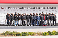 Real Madrid CF poses for a photograph after being presented with a new Audi car as part of an ongoing sponsorship deal with Real Madrid at their Ciudad Deportivo training grounds in Madrid, Spain. November 23, 2017. (ALTERPHOTOS/Borja B.Hojas)