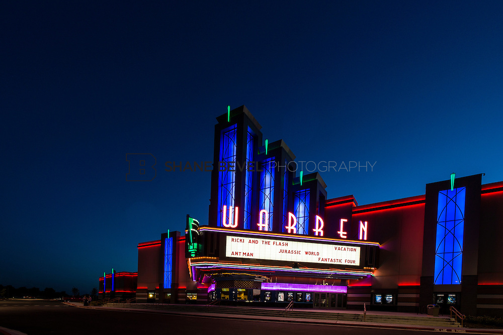 8/10/15 8:40:23 PM --  Exterior photos of the Warren Theatre in Broken Arrow, Oklahoma. <br /> <br /> Photo by Shane Bevel