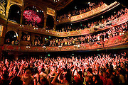The crowd at a Madness concert at the Hackney Empire in London on the launch of their new album 'Liberty of Norton Folgate'.
