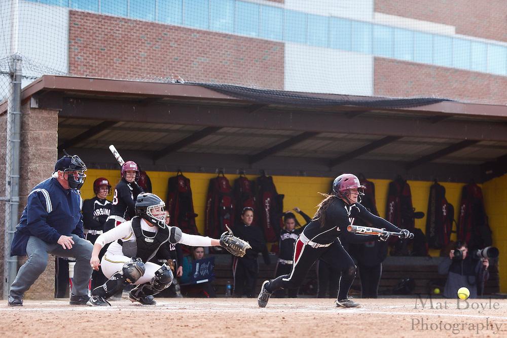 Ursinus College Softball Sophomore 2nd Baseman/Outfielder Monica Bonitatis (7) - Ursinus College Softball vs Rowan University at Rowan University's Softball Field in Glassboro, NJ on Wednesday March 27, 2013. (photo / Mat Boyle)