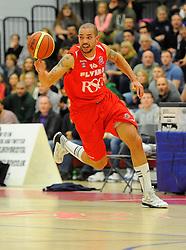 Bristol Flyers' Doug McLaughlin-Williams bursts forward  - Photo mandatory by-line: Joe Meredith/JMP - Mobile: 07966 386802 - 21/11/2014 - Sport - Basketball - Bristol - SGS Wise Campus - Bristol Flyers v Surrey United - British Basketball League