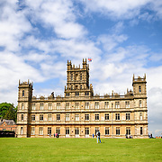 Highclere Castle (Downton Abbey). Highclere Castle, in Hampshire, is the home of the Earl and Countess of Carnarvon and is used in the filming of the British TV series Downton Abbey.