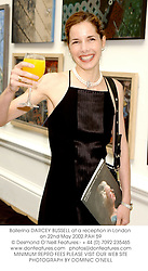 Ballerina DARCEY BUSSELL at a reception in London on 22nd May 2002.			PAH 59