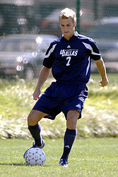 01 October 2006: Crusader Benet Rawicki. .The game remained scoreless until the 2nd overtime in which University of Dallas Crusaders Adam Lunger scored the Golden Goal to beat the Illinois Wesleyan Titans.  This game was played at Neis Field on the campus of Illinois Wesleyan University in Bloomington Illinois.