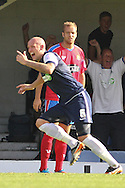 Picture by David Horn/Focus Images Ltd +44 7545 970036.08/09/2012.Ryan Cresswell of Southend United celebrates scoring  during the npower League 2 match at Roots Hall, Southend.