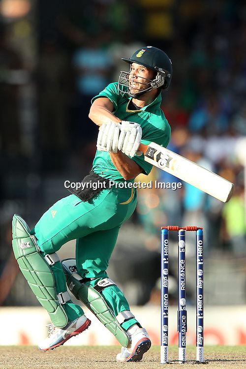 Farheen Behardien edges the ball for four during the ICC World Twenty20 Super 8s match between Australia and South Africa held at the Premadasa Stadium in Colombo, Sri Lanka on the 30th September 2012<br /> <br /> Photo by Ron Gaunt/SPORTZPICS