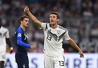 FUSSBALL UEFA Nations League in Muenchen Deutschland - Frankreich       06.09.2018 Thomas Mueller (Deutschland) --- DFB regulations prohibit any use of photographs as image sequences and/or quasi-video. ---