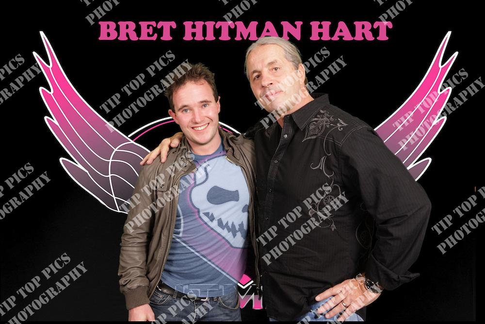 Bret Hart Hitman Wwe Wwf Legend Pink And Black Tour Uk 2014 Tip Top Pics