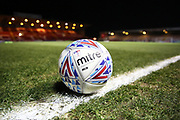Mitre EFL football on the line ahead of the EFL Sky Bet League 1 match between Lincoln City and Rotherham United at Sincil Bank, Lincoln, United Kingdom on 7 February 2020.