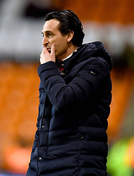 Arsenal manager Unai Emery watches the action from the touchline during the Emirates FA Cup, third round match at Bloomfield Road, Blackpool.