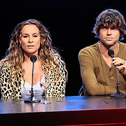 NLD/Hilversum/20120821 - Perspresentatie 3de seizoen The Voice of Holland 2012 / 2013, Trijntje Oosterhuis, Nick & Simon, Simon Keizer