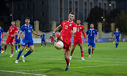 ORHEI, MOLDOVA - Friday, October 11, 2019: Wales' Nathan Broadhead during the UEFA Under-21 Championship Italy 2019 Qualifying Group 9 match between Moldova and Wales at the Orhei District Sports Complex. (Pic by Kunjan Malde/Propaganda)