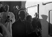 The State Funeral of Sir Alfred Chester Beatty at St. Patrick's Cathedral, Dublin. President Eamon de Valera enters the Cathedral.<br /> 29.01.1968