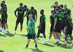 July 12, 2018 - Na - Nyon, 12/07/2018 - Sporting Clube de Portugal trained this morning during their pre-season training session in Switzerland at the Colovray Sports Center in Nyon. José Peseiro  (Credit Image: © Atlantico Press via ZUMA Wire)