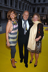 Left to right, SARAH & JOHN STANDING and KAY SAATCHI at the Royal Academy of Arts Summer Exhibition Party at the Royal Academy, Piccadilly, London on 6th June 2007.<br />