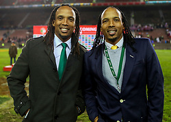 Odwa Ndungane with Akona Ndungane- Mandatory by-line: Steve Haag/JMP - 23/06/2018 - RUGBY - DHL Newlands Stadium - Cape Town, South Africa - South Africa v England 3rd Test Match, South Africa Tour