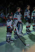 KELOWNA, CANADA - FEBRUARY 23:  Pepsi Player of the Game in the line up at the Kelowna Rockets game on February 23, 2018 at Prospera Place in Kelowna, British Columbia, Canada.  (Photo By Cindy Rogers/Nyasa Photography,  *** Local Caption ***