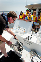 Wayne County students get hands-on experience exploring the Neuse Estuary as a part of the Floating Classroom Program.