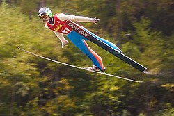 Matjaz Pungertar during national competition in Ski Jumping, 8th of October, 2016, Kranj,  Slovenia. Photo by Grega Valancic / Sportida