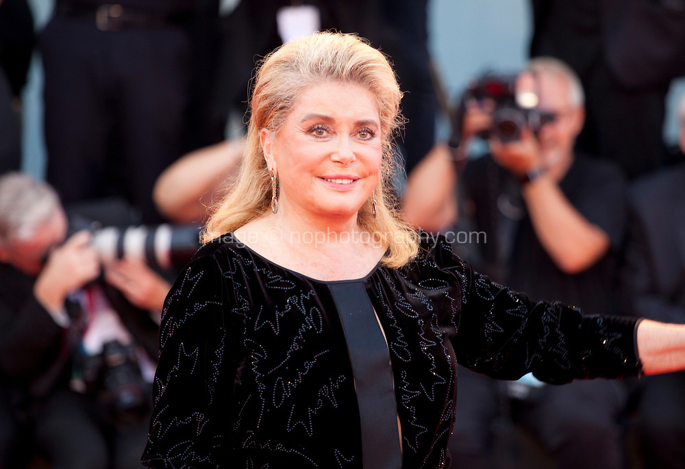 Venice, Italy, 31st August 2019, Catherine Deneuve at the gala screening of the film Joker at the 76th Venice Film Festival, Sala Grande. Credit: Doreen Kennedy