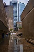 Downtown Toronto in the Rain